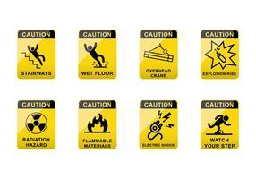 Gratis försiktighetsskyltvektor