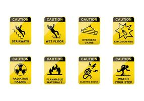 Vector de signes de prudence gratuit