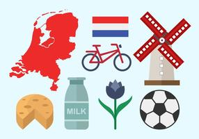 Libre Netherland plana icono de diseño vectorial