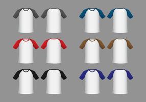 Gratis Raglan Korte Mouw T-shirt Sjabloon Vector
