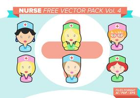 Enfermera Libre Vector Pack