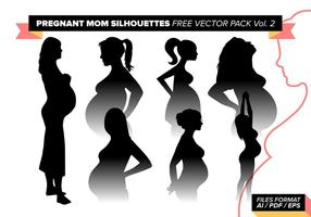 Pregnant Mom Silhouettes Free Vector Pack Vol. 2