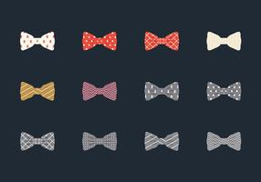 Illustration set of bow tie vecteur