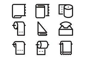 Vetores de ícone de linha de papel higiênico