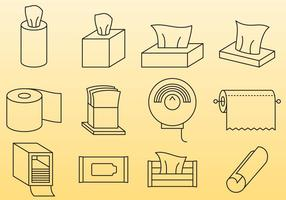 Wipes And Paper Towels vector