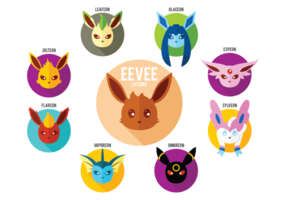 Vecteur de love eevee