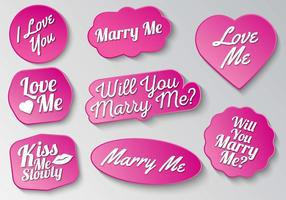 Gratis Marry Me Sign Typography Vector
