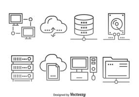 Cloud Computing Icons Vektor