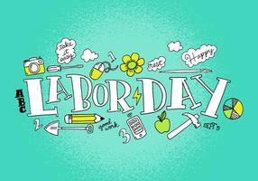 Labor Day Vector Lettering