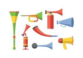 Cheering Horn Vector