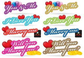 Love Titles vector