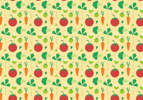 Free Vegetables Pattern Vector