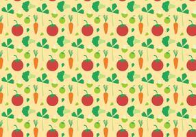 Vector de patrones de verduras gratis