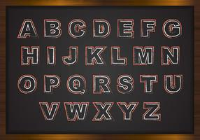 Chalk Alphabets On Black Board Vector
