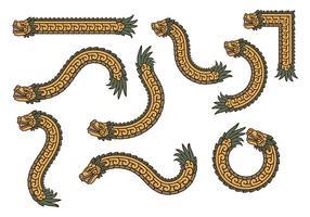 Guld quetzalcoatl vektorer