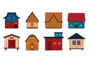 Set av Shack Vector