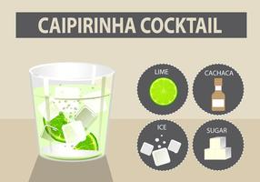 Caipirinha cocktail vector illustration