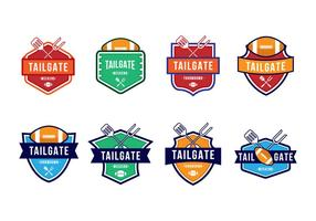 Fri American Football Tailgate Party Badges