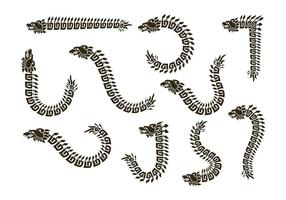 Vettori di silhouette di quetzalcoatl