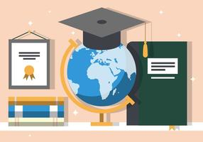 Free Graduate Education Vector Illustration