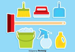 Spring Cleaning Set Vector