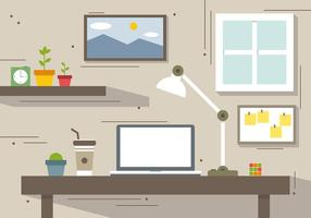 Free Creative Workstation Vector Illustration