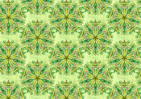 Green Vector Colorful Mandala Pattern