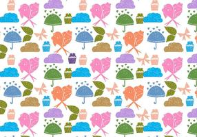 Vector Free Love Birds Doodle Background