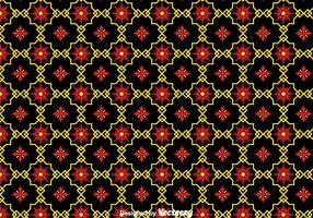 Traditionele Ornament Zwarte Tegels Achtergrond