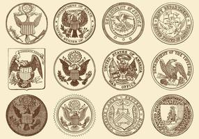 Seals Of USA vector