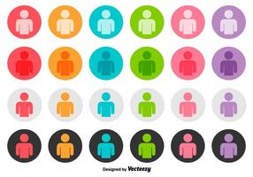 Vector Set Of Person Icon Buttons