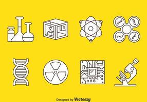 Teknik och vetenskap ikoner vektor