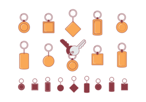 Key Chains Flat Icons vector