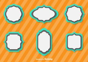 Simple Vector Flat Cartouches For Badges