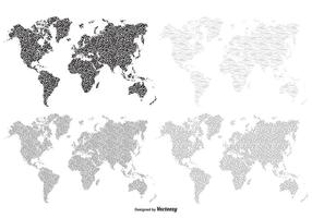 Texturerad världskartor
