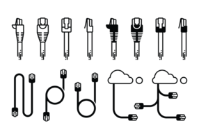 Rj45 Icons vector