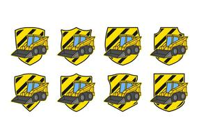 Skid Steer Badge Vector