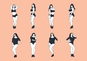 Gratis Plus Size Woman Vector