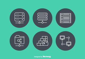 Gratis Netwerk Servers Vector Pictogrammen