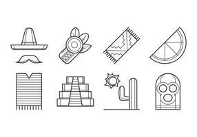 Vetor livre de ícones do México