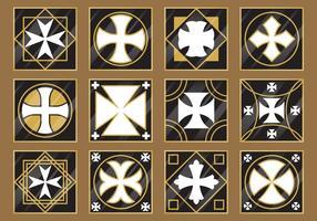 Cross Tiles Vector
