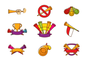 Vuvuzela trumpetvektor