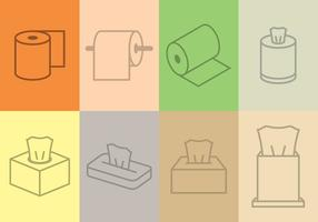 Tissue Icon set vector