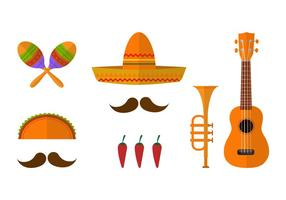 Mariachi Pictogram Vector Set