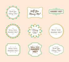Freie heiraten mich Zeichen-Verzierung Sticker Vektor