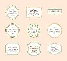 Marry Me Sign Ornament Sticker Vector