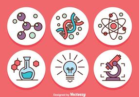 Science Circle Icons Vector