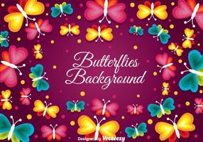 Fundo de borboletas
