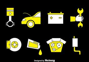 Conjunto de vetores de manutenção de carros