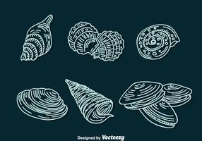 Shell Line Pictogrammen Vector